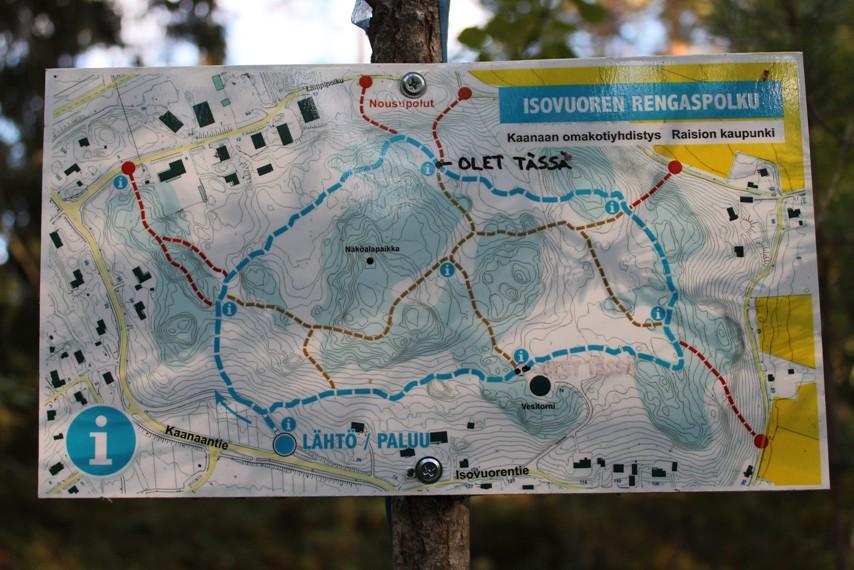 Isovuoren rengaspolun kartta